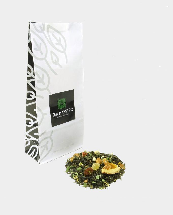 Theezakje met groene jasmijn theesoorten