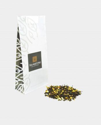 Theezakje met zwarte theesoorten