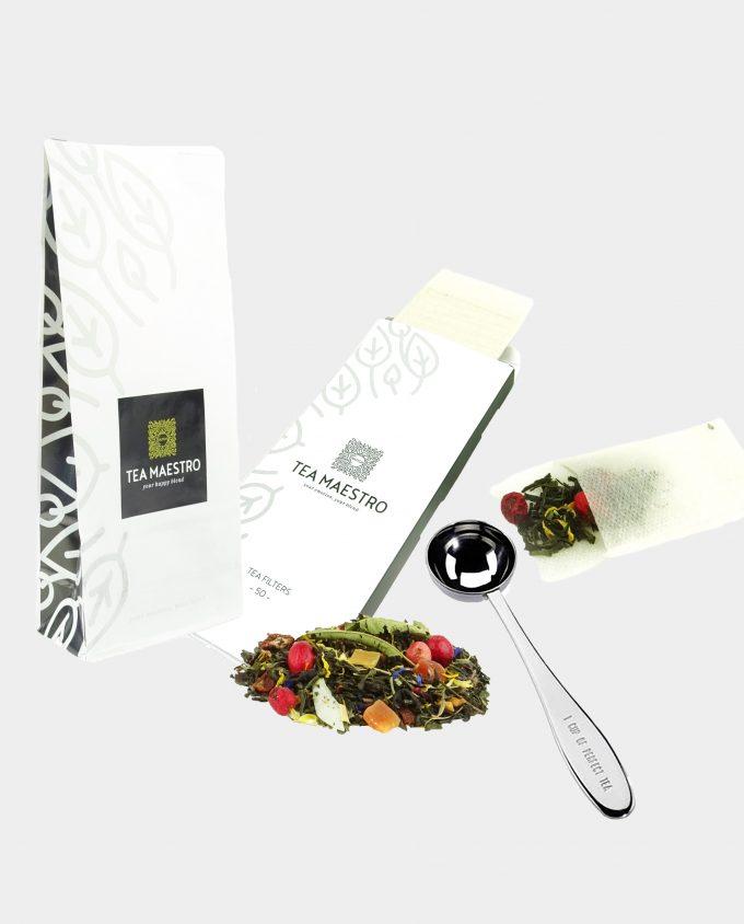 Thee cadeaupakket groene en witte thee bestellen